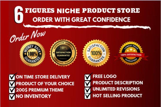 Create a 6 figure shopify ecommerce website, FiverrBox