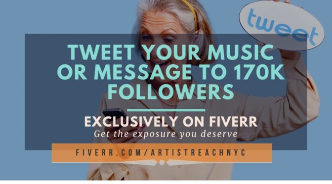Tweet Your Music or Link to 170,000 Active Twitter Followers