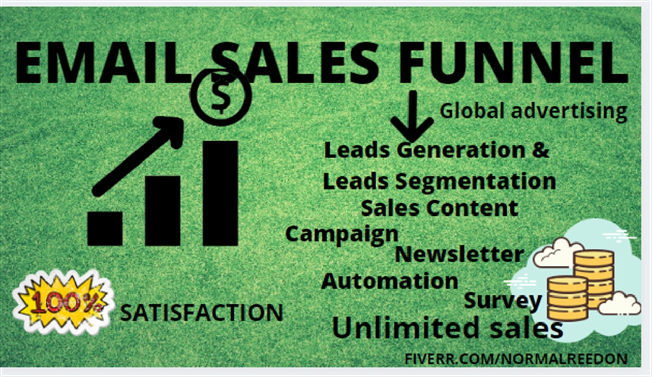 Shopify email marketing email campaign email sales funnel email marketing, FiverrBox
