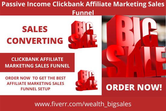 Build clickbank click funnels affiliate getresponse sales funnel, FiverrBox