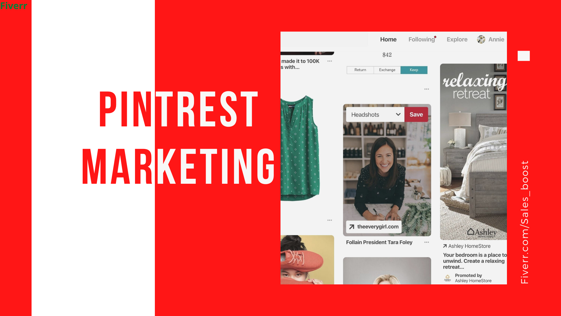 Do exclusive, sales guaranteed pinterest marketing for your business, website, FiverrBox
