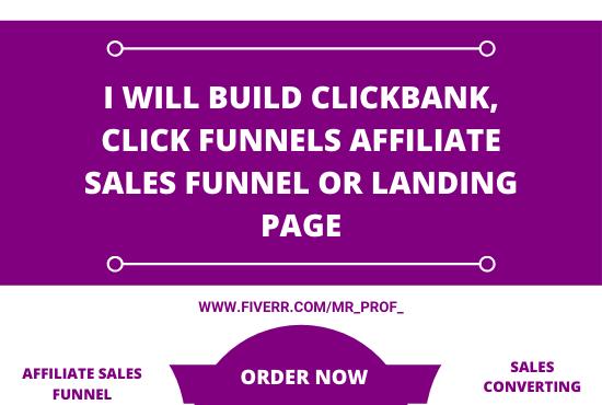 I will design clickfunnels kajabi samcart thrivecart sales funnel, FiverrBox