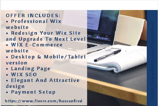 design and redesign a business wix website, FiverrBox