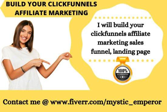 Build your clickfunnels affiliate marketing sales funnel, landing page, FiverrBox