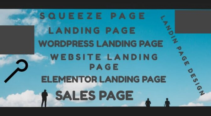 Create squeeze page design and build professional website