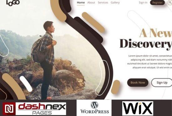 I will design a business website on WordPress,Wix,and Dashnex, FiverrBox