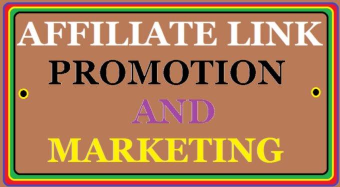 Do affiliate link promotion,web traffic,link marketing, FiverrBox