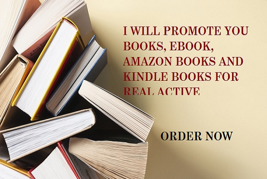 I will run you Ebook promotion, books and kindle on social media books, FiverrBox