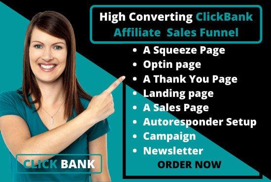 Build clickfunnels sales funnel, ROI guarantee affiliate sales funnel, FiverrBox