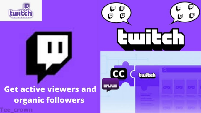 Do extensive and organic promotion for your twitch channel, FiverrBox