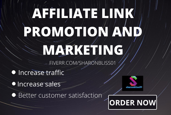 I will do affiliate referral link promotion,affiliate link promotion, FiverrBox