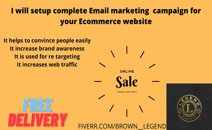 I will setup complete email marketing campaign for your shopify ecommerce website, FiverrBox