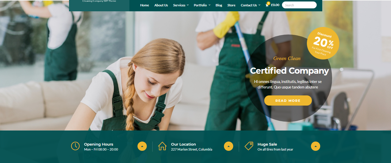 I will design a clean wordpress website with appointment booking for cleaning services, FiverrBox