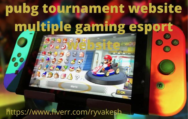 I will develop Pubg Tournament Website Multiple Gaming Esport Website, FiverrBox