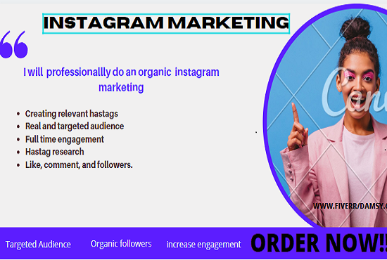 I will do instagram marketing for organic growth and engagement, FiverrBox