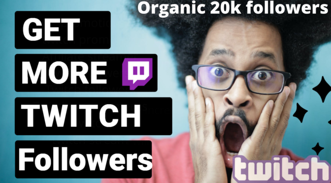 I will Promote and market your twitch channel Organically