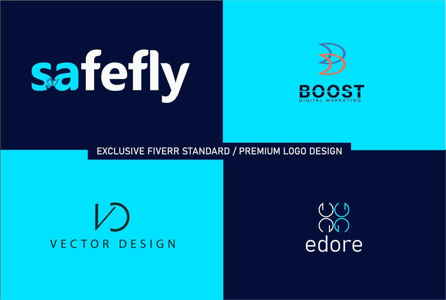 I will 2 premium luxury minimalist business logo design, FiverrBox