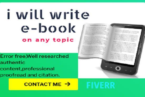 I will ghostwrite 50,000 words ebook, kindle book ebook writer, ghostwriter