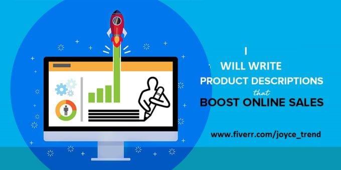 I will write seo optimized product description for shopify, amazon, woocomerce, FiverrBox