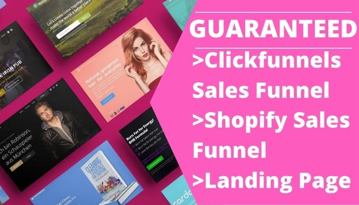 I will build high converting clickfunnels sales funnel shopify salesfunnel landing page, FiverrBox