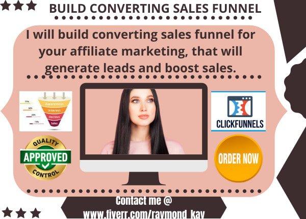 Do clickbank affiliate marketing sales funnel in clickfunnels, FiverrBox