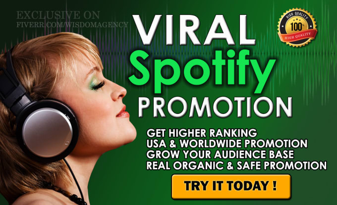 I will do organic spotify music promotion, FiverrBox