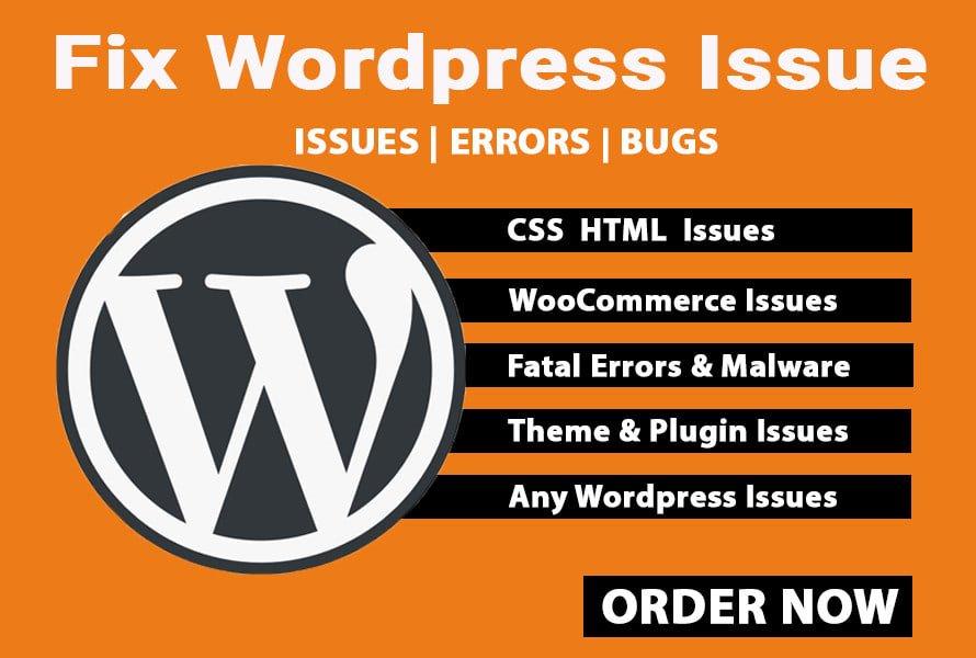 I will fix wordpress website or fix woocommerce any issue, FiverrBox