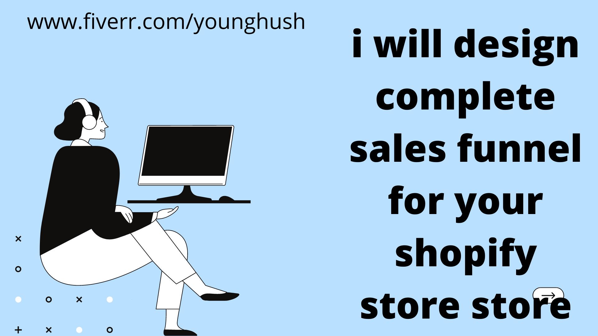 I will design sales funnel, shopify, click funnel, klaviyo, getresponse sales funnel, FiverrBox