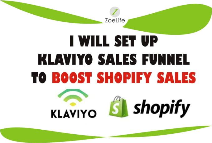 I will do klaviyo sales funnel email marketing shopify sales funnel shopify marketing, FiverrBox