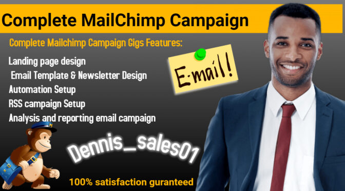 I will develop complete mailchimp campaign capaign automation
