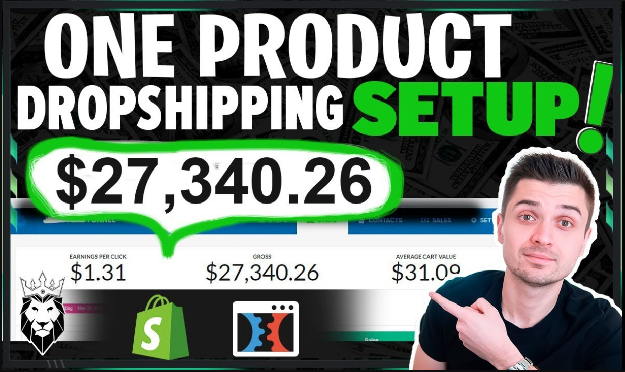I will create one product shopify dropshipping store, video ads marketing,promotion, FiverrBox