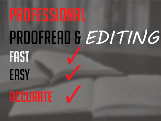 I will provide high quality proofreading and editing services, FiverrBox