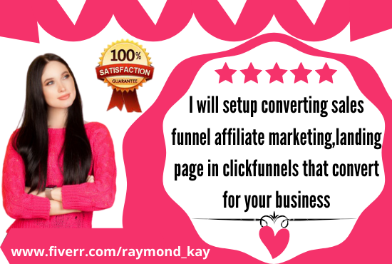 Setup Converting Sales Funnel Affiliate Marketing,Landing Page In Clickfunnels, FiverrBox