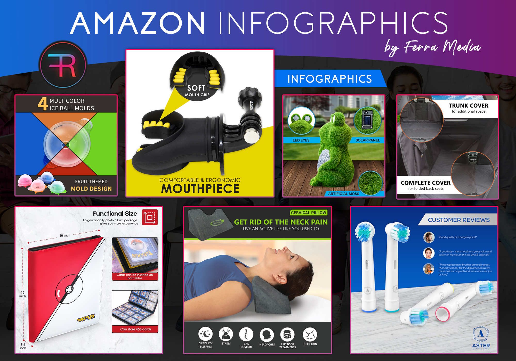 I will design amazon infographic images, FiverrBox