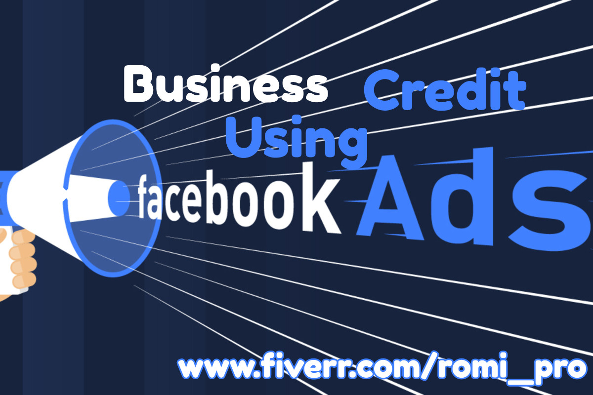 I will set up unique business credit using facebook ad, FiverrBox
