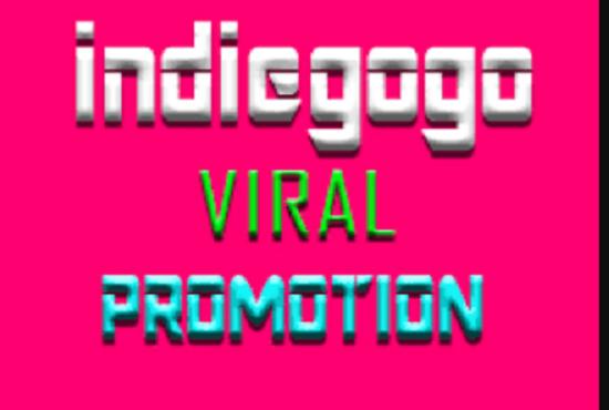 I will promote indiegogo kickstarter,gofundme,or any crowdfunding campaig, FiverrBox