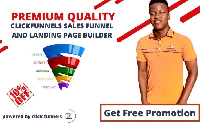 I will build a high converting clickfunnels sales funnel, lead capture landing page, FiverrBox