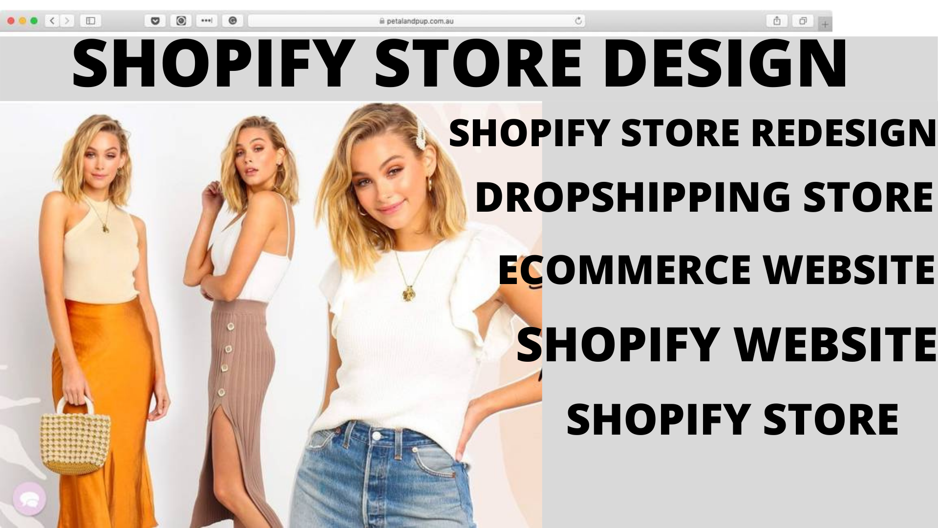I will do shopify store design ecommerce dropshipping website we, FiverrBox