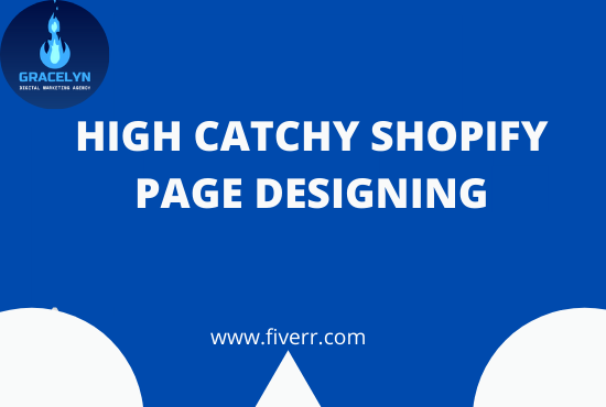 I will design shopify landing page,product page and shopify website, FiverrBox
