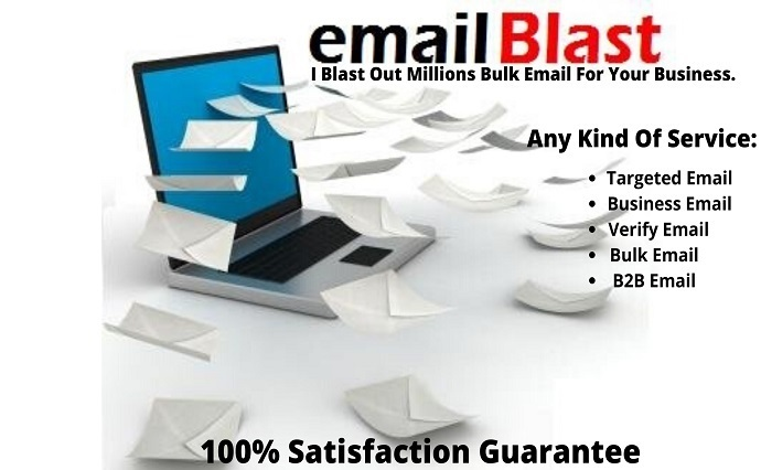 I will complete email marketing,bulk email, bulk email sender, bulk email blast, email sender, bulk email sender and campaign manager for your business, FiverrBox