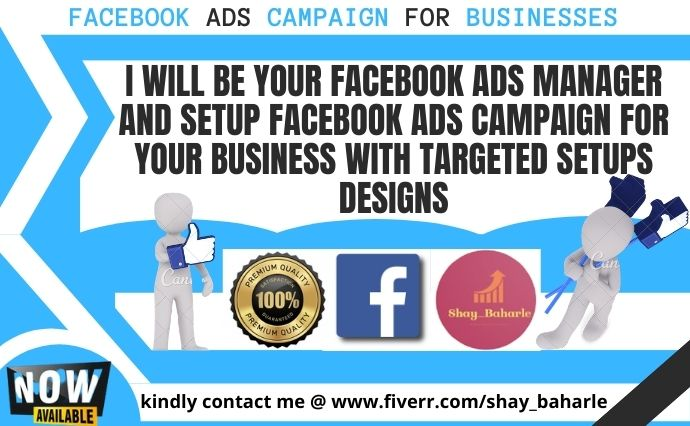 I will create your fb ads manager and setup facebook ads campaign for your business, FiverrBox