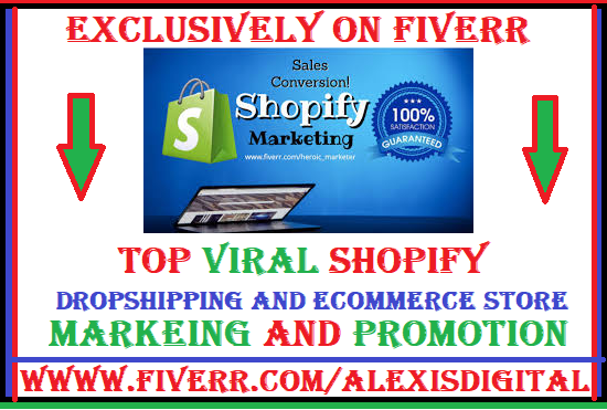 I will promote shopify store,ecommerce website,shopify marketing and promotion to USA, FiverrBox
