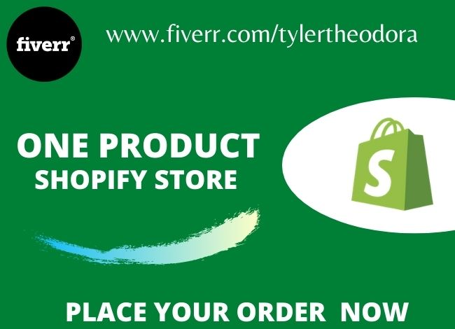 I will set up a branded one product shopify dropshipping store, shopify website, FiverrBox