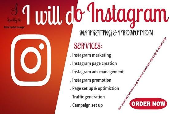 I will do instagram marketing, instagram promotion for instagram growth, FiverrBox