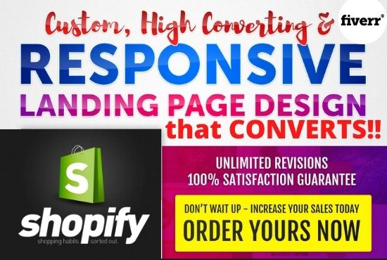 I will do shopify store landing page, sales page or product page that convert crazily, FiverrBox