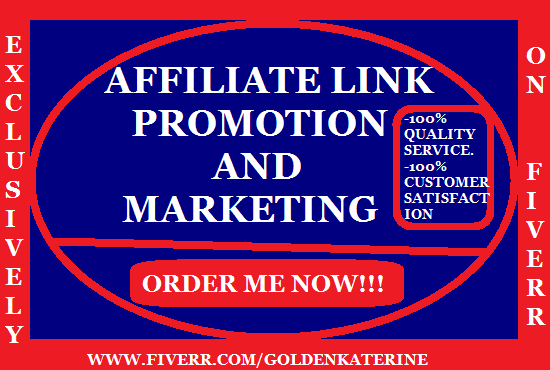 I will promote affiliate link,redbubble,clickbank,teespring,digistore,shopify traffic, FiverrBox