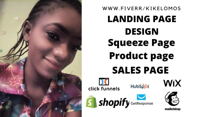 I will do shopify product page,sales page, landing page design, squeeze page design, FiverrBox