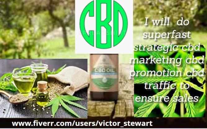 I will do superfast strategic cbd marketing cbd promotion cbd traffic to ensure sales, FiverrBox