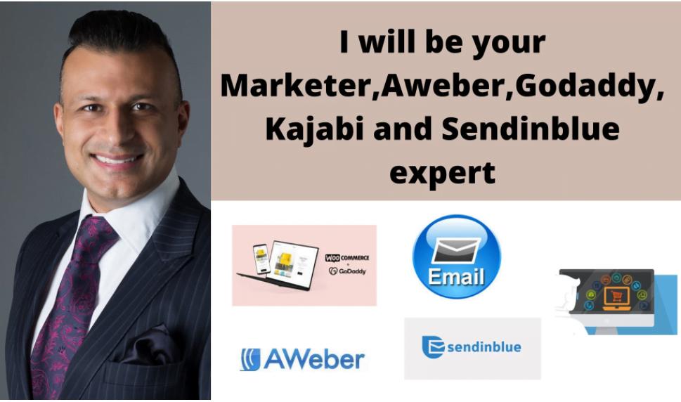 I will do or design converting sales email campaign aweber, godaddy, kajabi sendinblue, FiverrBox