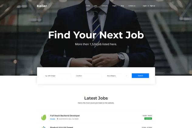 I will design a job board, recruitment, or agency website, FiverrBox